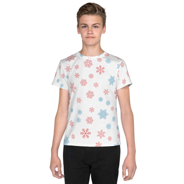 White Casual Snow Youth T-Shirt