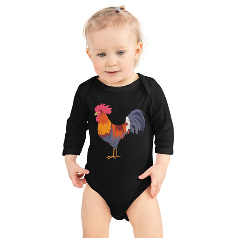 Cock Infant Long Sleeve Bodysuit