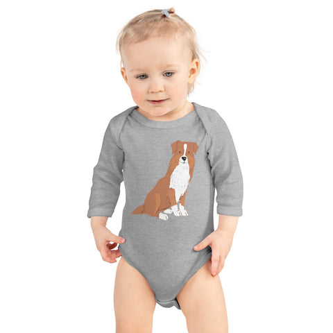 Dog Infant Long Sleeve Bodysuit