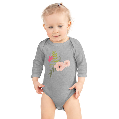 Floral Infant Long Sleeve Bodysuit