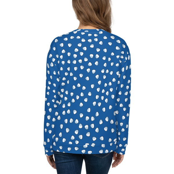 Vintage Blue Ladies Sweatshirt