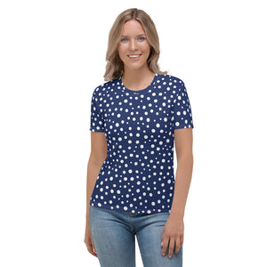 Blue Dotted Women's T-shirt