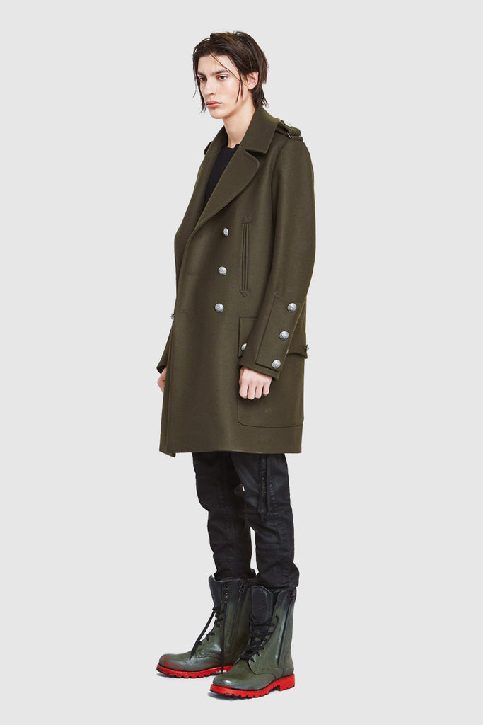 DOUBLE-BREASTED WOOL-BLEND COAT - Faith Connexion
