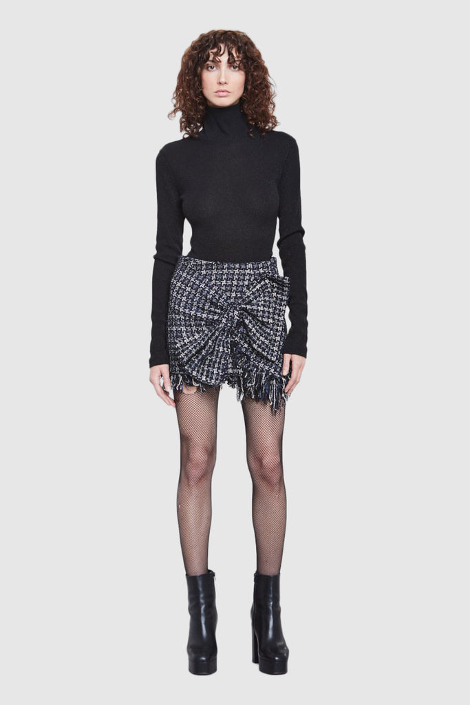 TWEED BOW MINI SKIRT