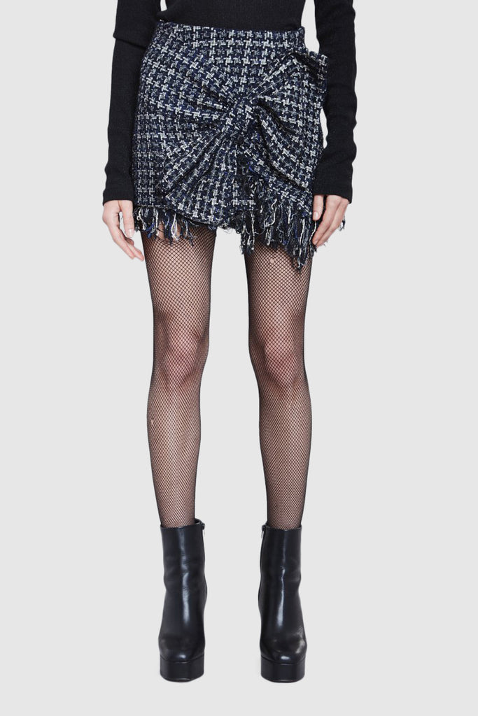TWEED BOW MINI SKIRT - Faith Connexion