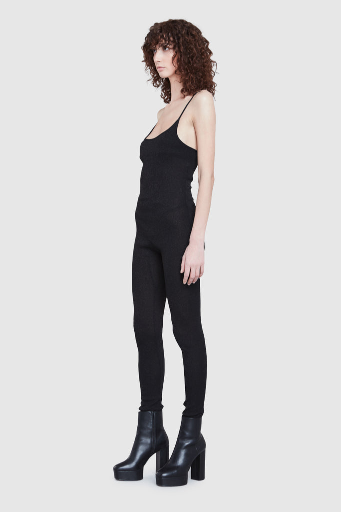 RIBBED LUREX JUMPSUIT