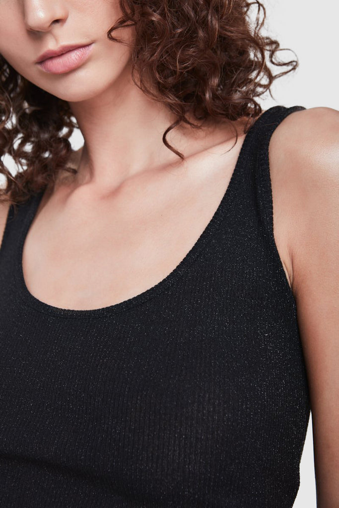 RIBBED LUREX TANK TOP