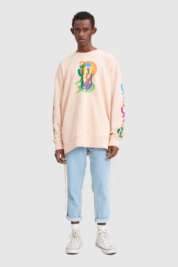 TODD JAMES PINK CREWNECK SWEAT