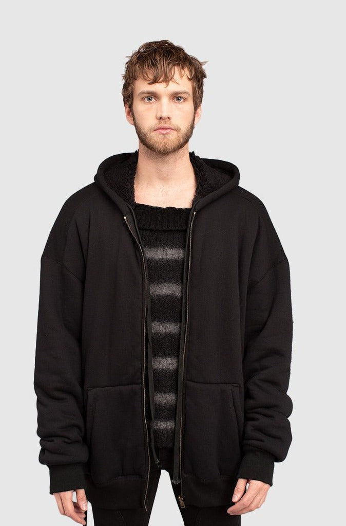 REVERSIBLE HOODED SWEATER - Faith Connexion