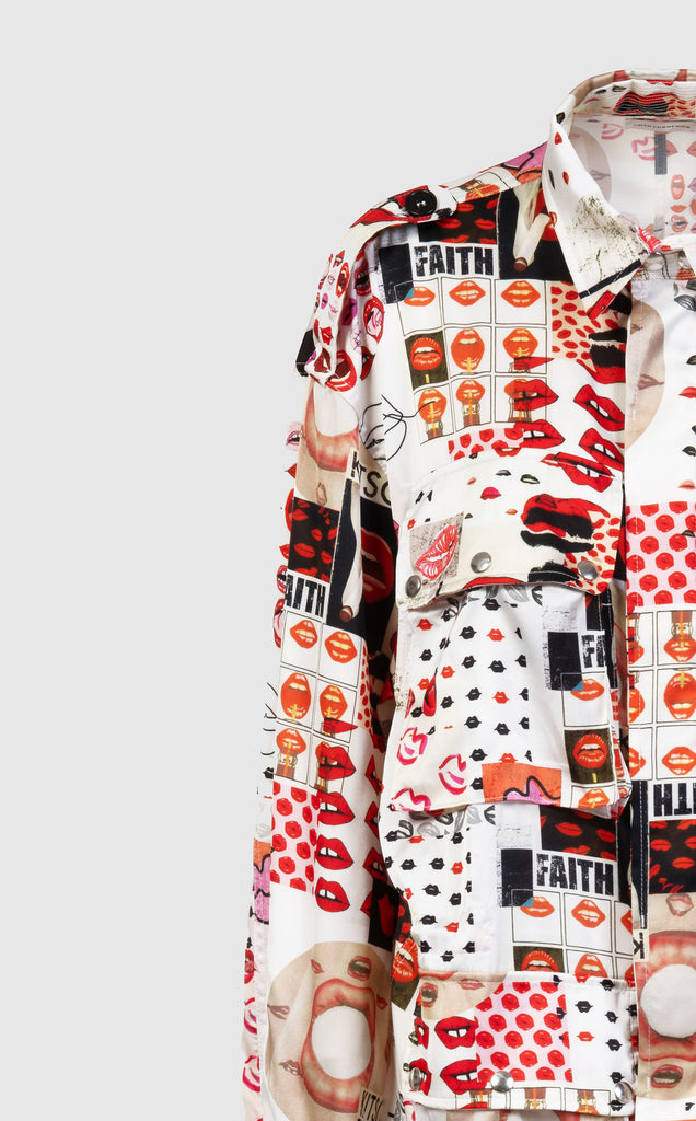 ALL-OVER PRINT FIELD JACKET - Faith Connexion