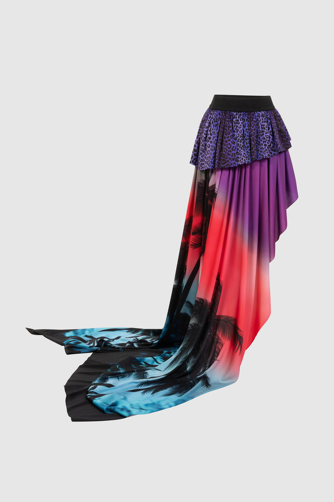 LONG PRINTED ASYMMETRIC SKIRT - Faith Connexion