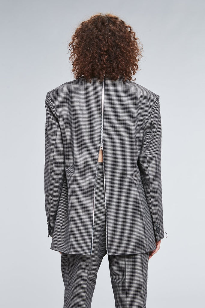 CHECKERED PIERCING BLAZER