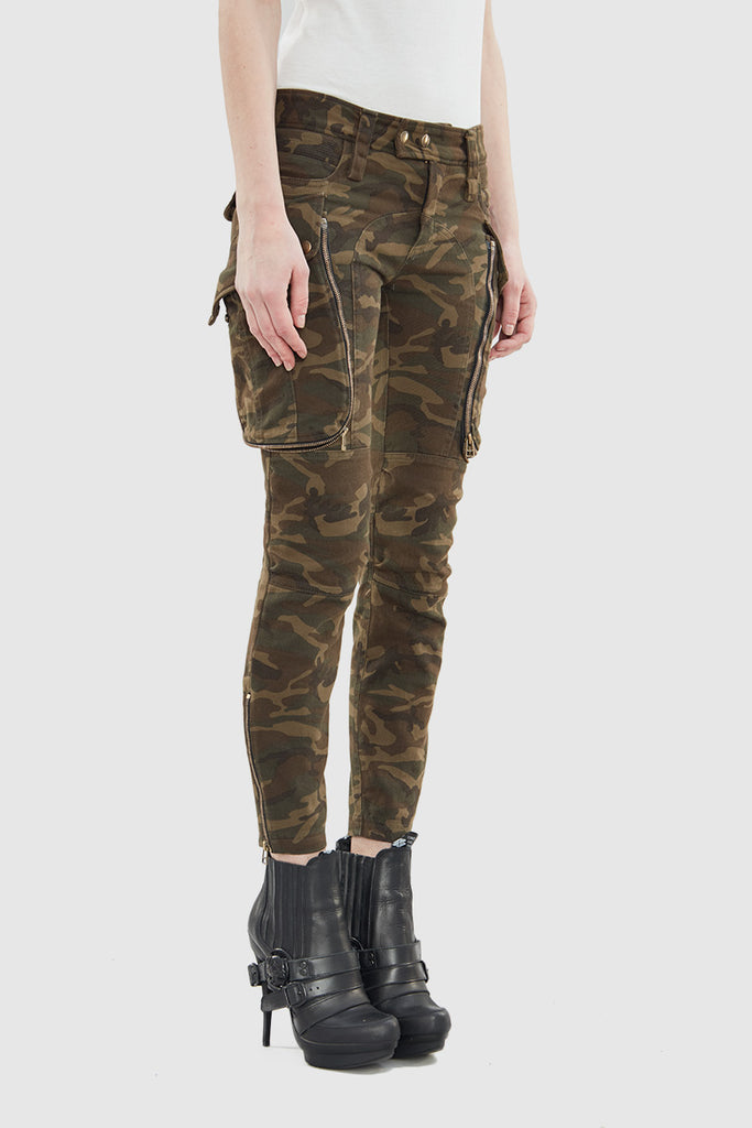 CAMOUFLAGE CARGO PANTS - Faith Connexion