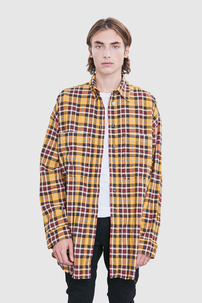 YELLOW CHECKERED OVERSHIRT