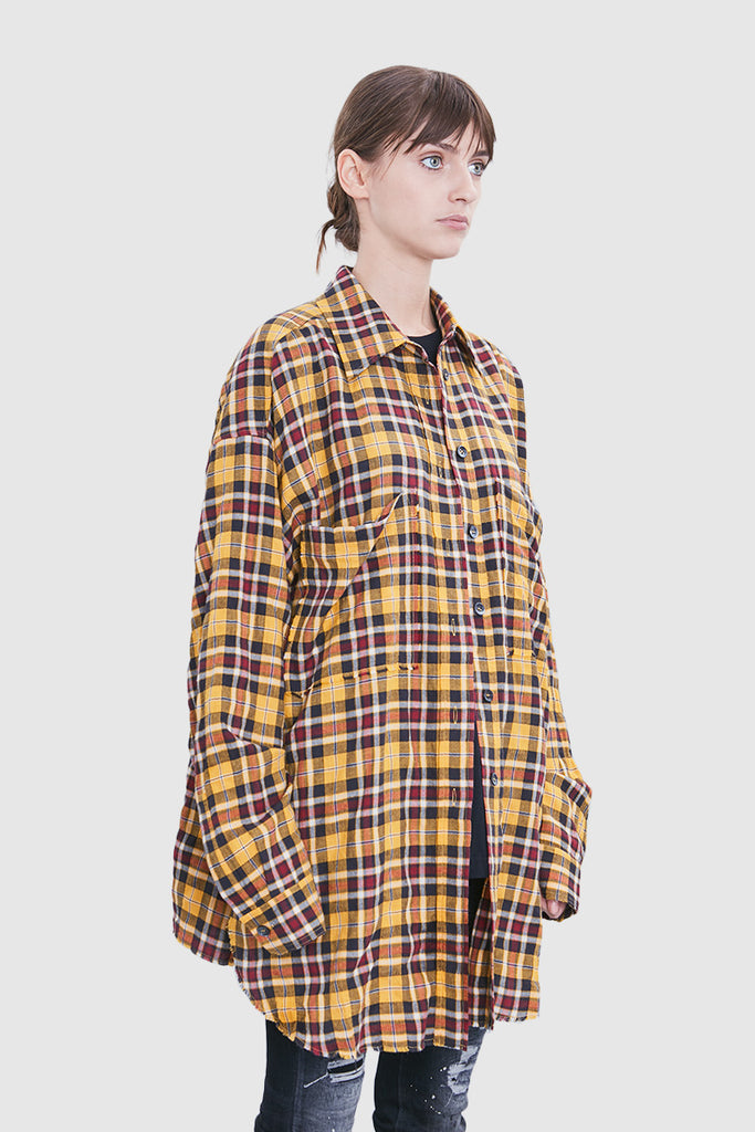 YELLOW CHECKERED OVERSHIRT - Faith Connexion