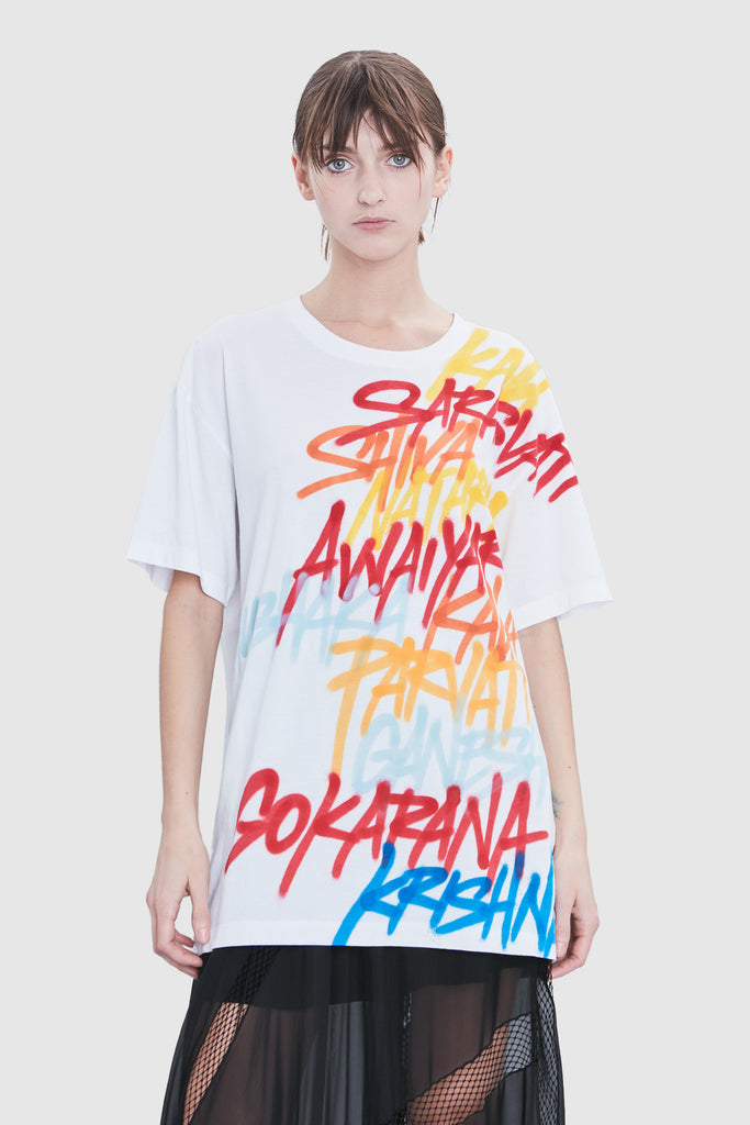 COTTON PRINTED GRAFFITI T-SHIRT
