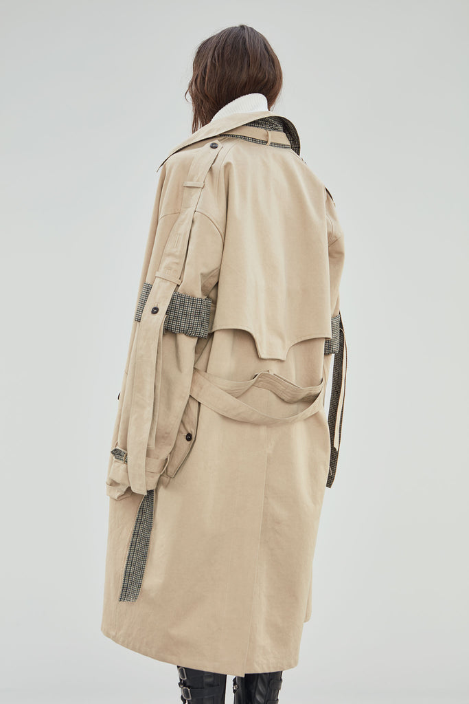 KAKI TRENCH COAT