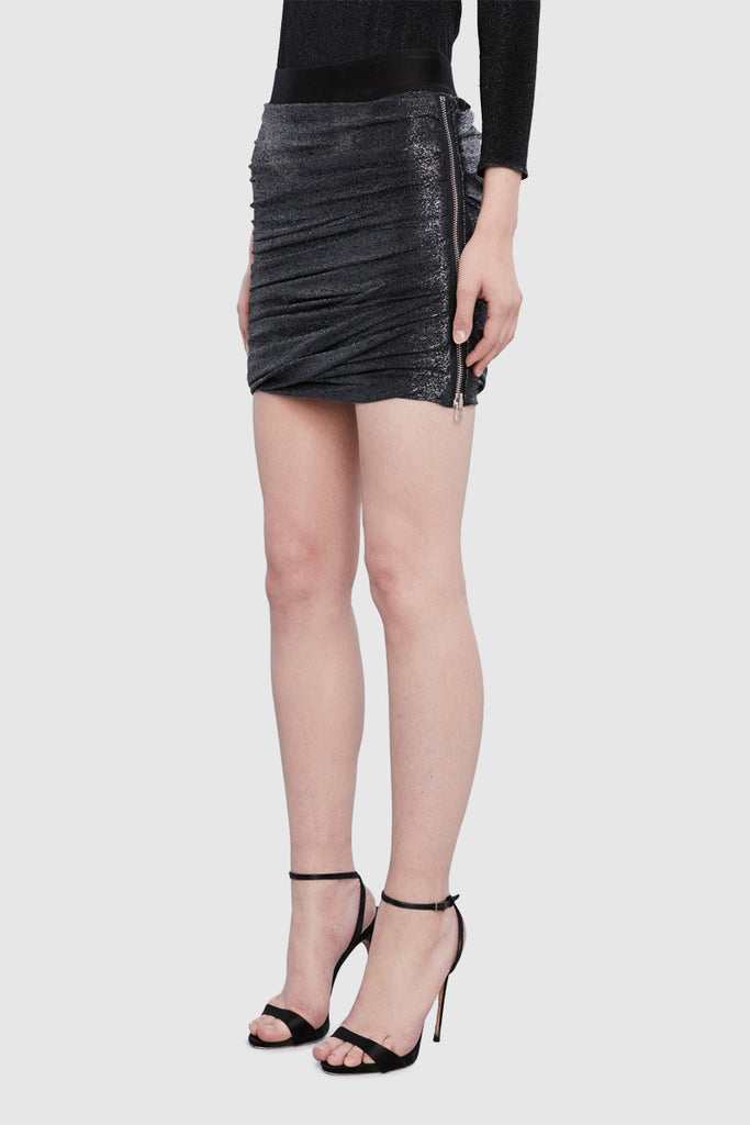 BLACK DRAPE TUBE SKIRT