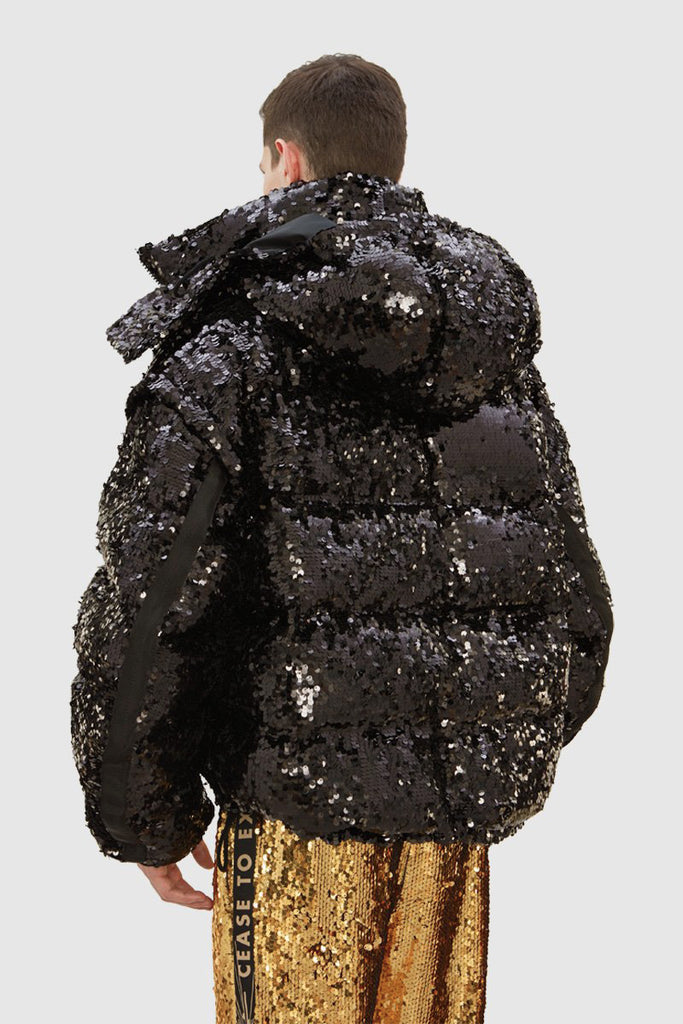 SEQUIN DOWN JACKET