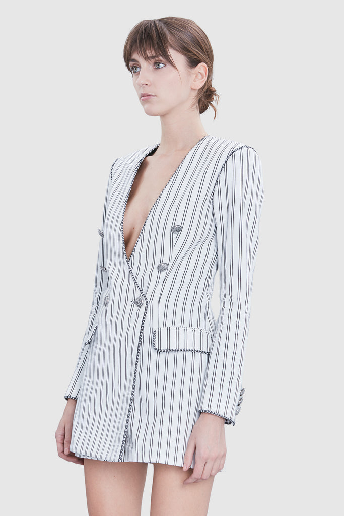 STRIPE TAILORED JUMPSUIT