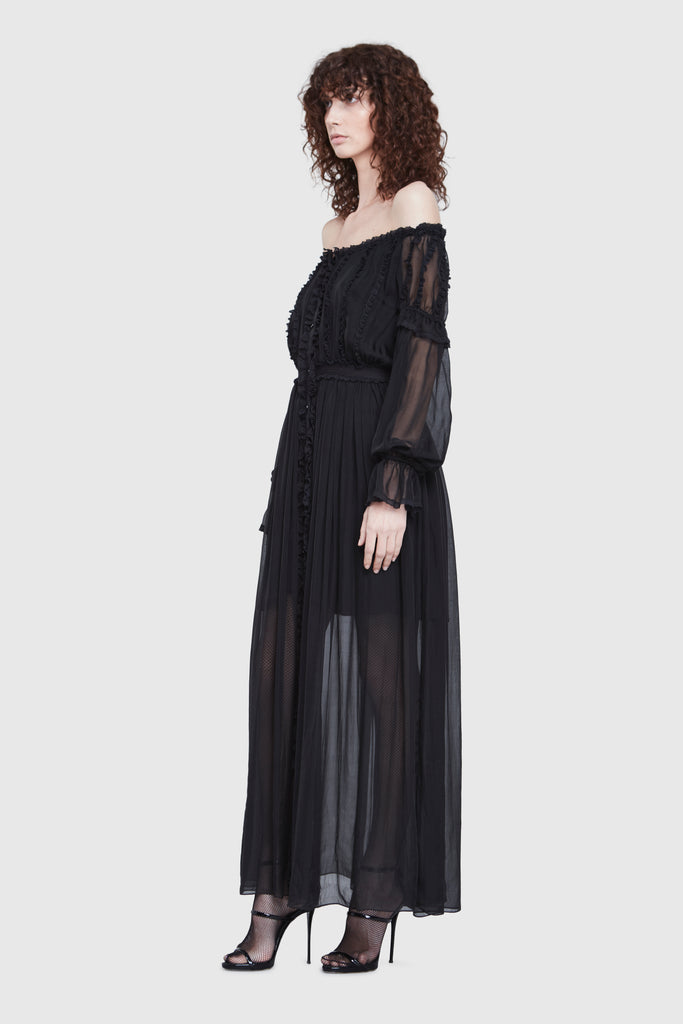 OFF SHOULDER LONG DRESS - Faith Connexion