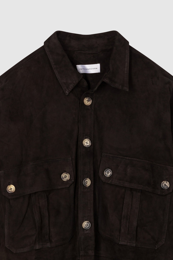 SUEDE OVERSHIRT - Faith Connexion