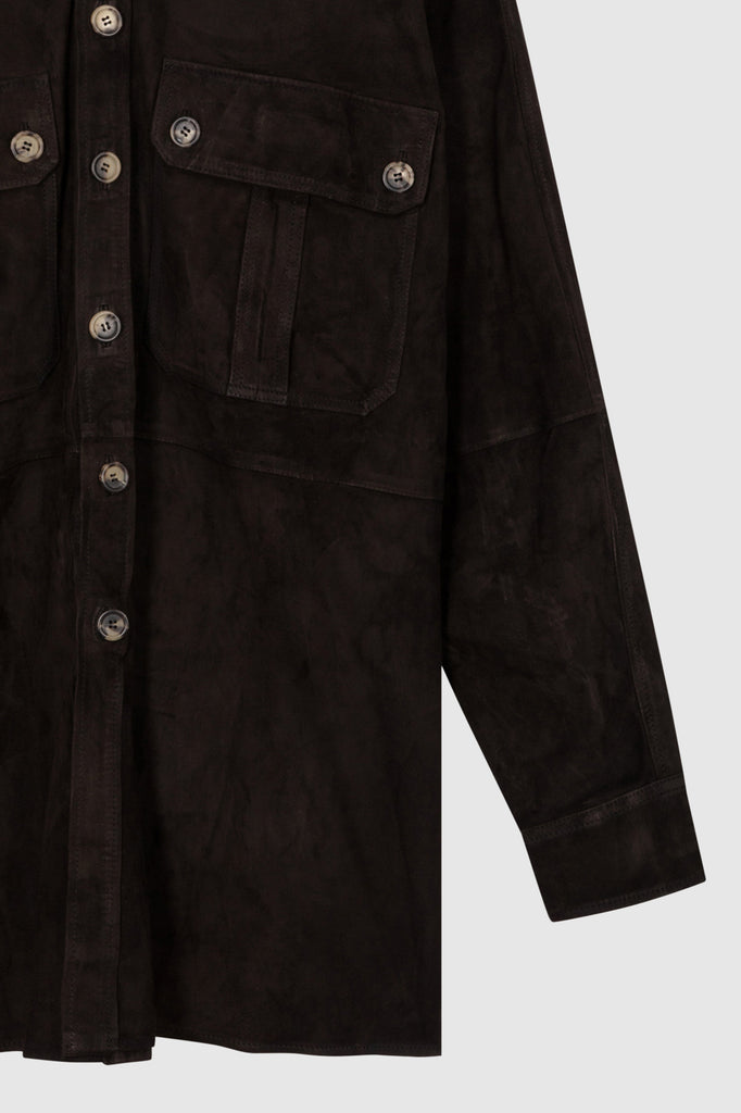 SUEDE OVERSHIRT JACKET - Faith Connexion