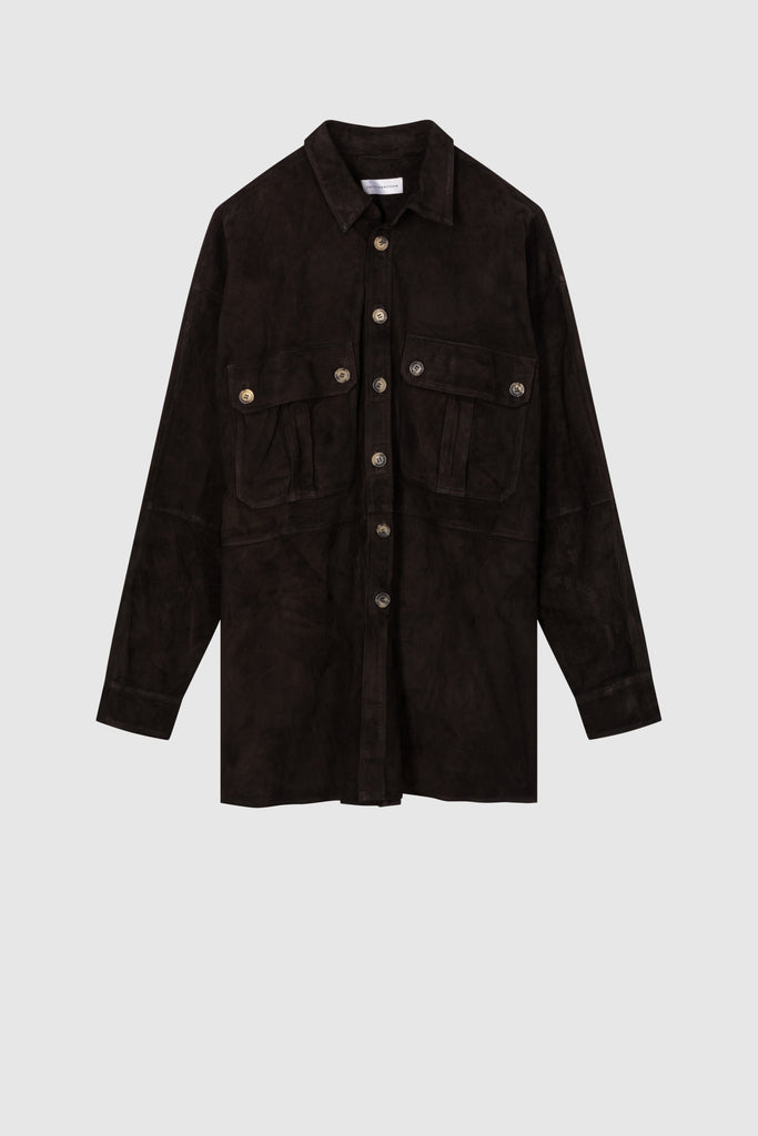 SUEDE OVERSHIRT JACKET