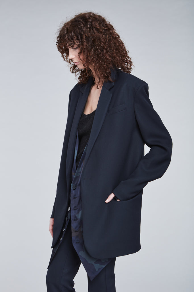 NAVY TAILOR  BLAZER WITH VEST