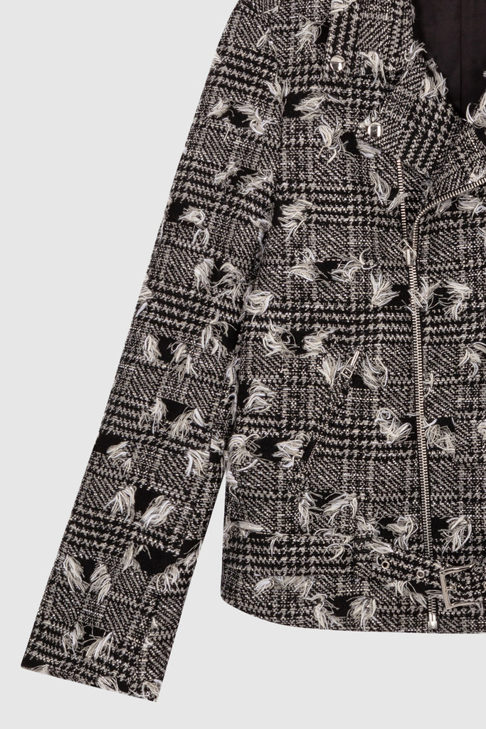TWEED BIKER JACKET - Faith Connexion