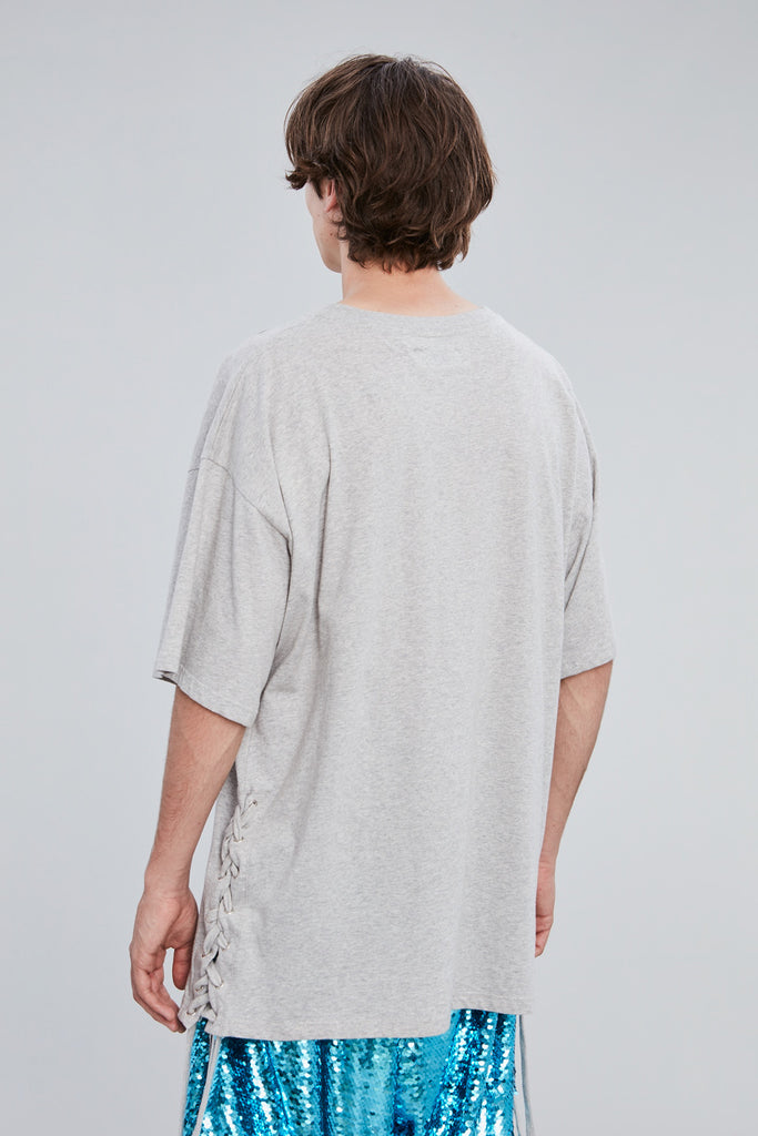 GREY COTTON PARIS T-SHIRT