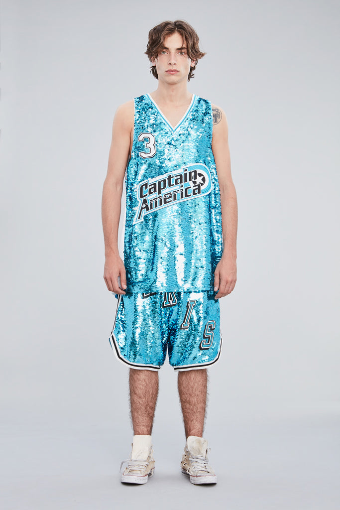 SEQUINS BASKETBALL JERSEY