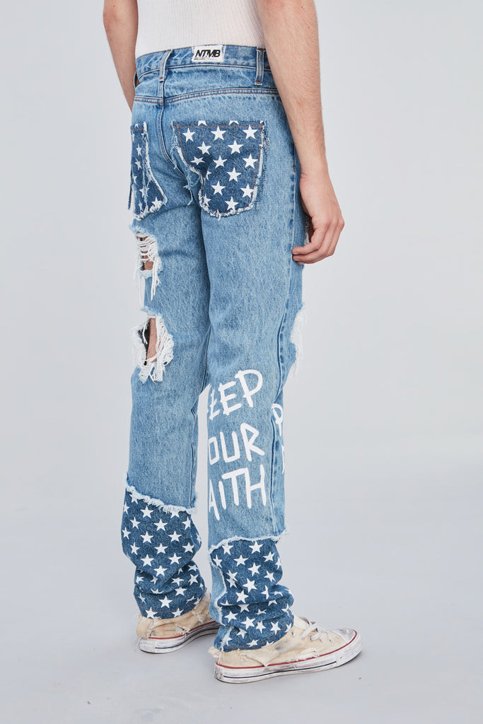 NTMB STARS STRAIGHT DENIM