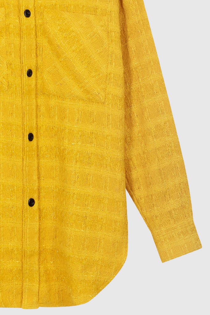 OVERSIZED TWEED SHIRT JACKET - Yellow - Faith Connexion