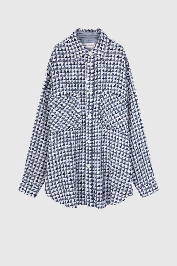 GEOMETRICAL TWEED OVERSHIRT