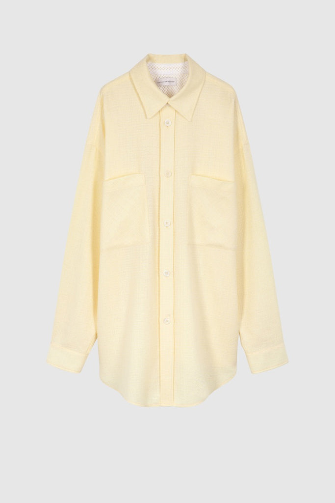 YELLOW TWEED OVERSIZE SHIRT