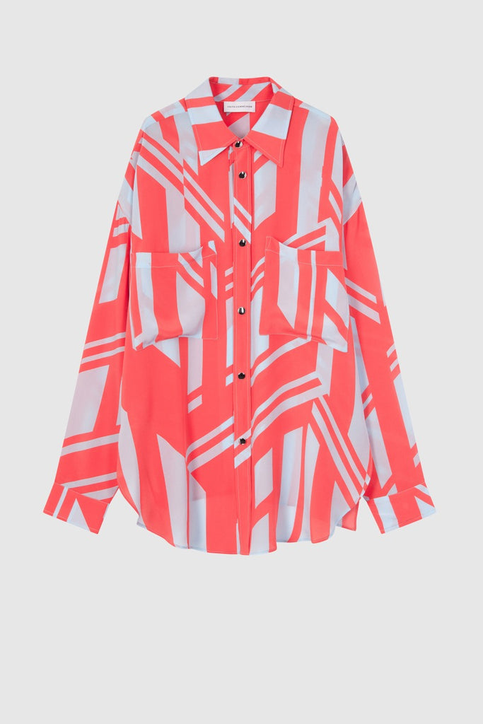 SILK PRINTED OVERSHIRT