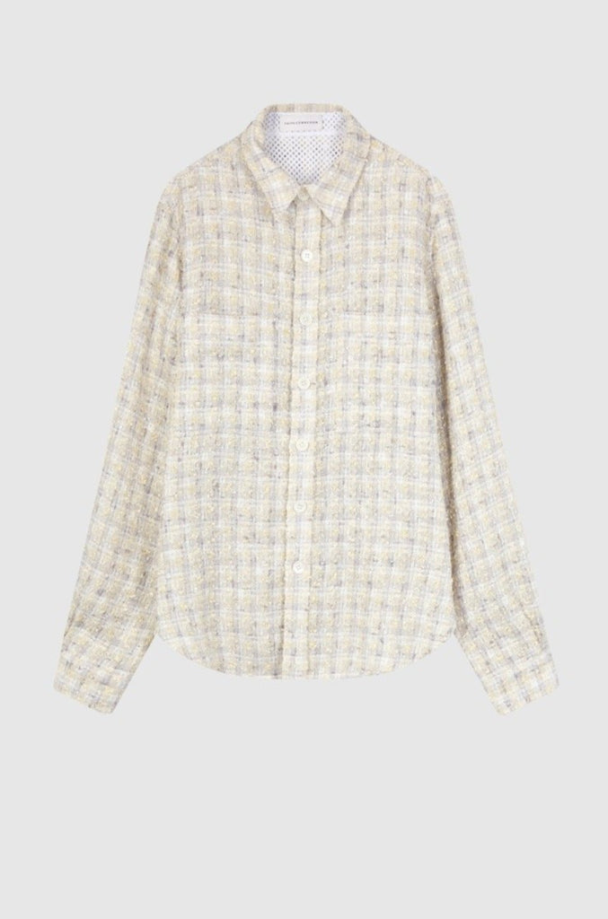 TWEED FITTED OVERSHIRT - Faith Connexion