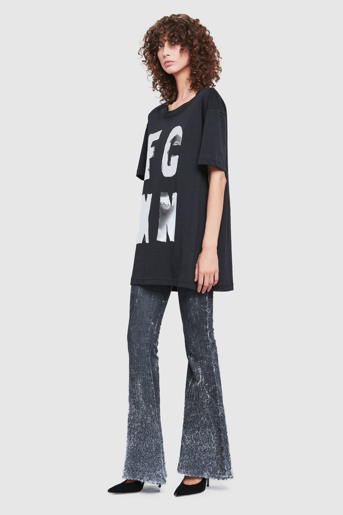 BLACK COTTON OVERSIZE T-SHIRT
