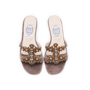 Jewelled H sandal