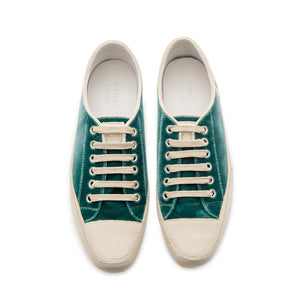 Joe Sneaker - Sea Green Velvet