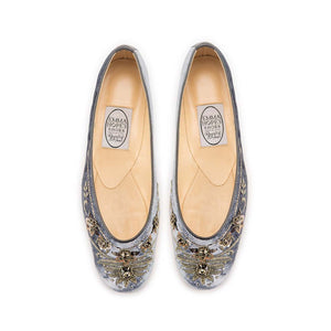 English Rosie Ballet - Grey Silver Velvet