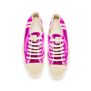 Joe Sneaker - Dark Rose Velvet