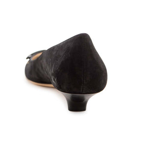 Slash Low Court - Black Suede