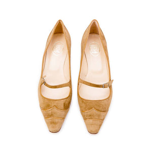 Raw Edge Low Bar Court - Tan Suede