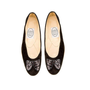 Minnie Bow Ballet - Black Suede