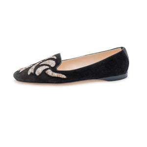 Vintage Sequin Albert - Black Suede