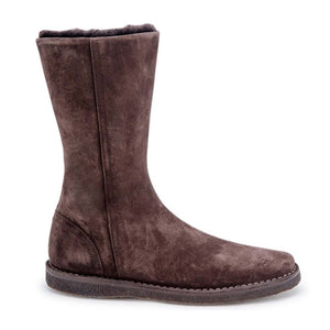 Shearling Mid Boot - Brown Suede