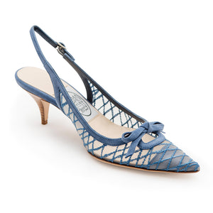 Criss Cross Net Pointy Sling - China Blue Net