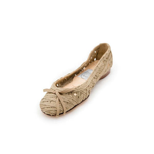 Criss Cross Ribbon Ballet - Taupe Ribbon